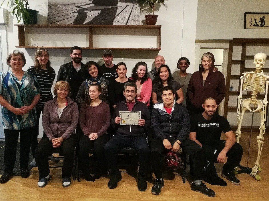 Graduating class of Tuina training of 2019