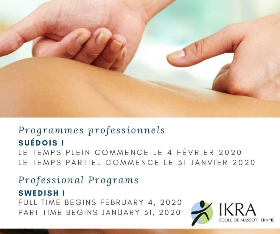 Swedish Massage Professional Program Promotion Flyer