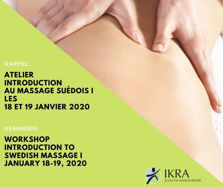 Introduction to swedish massage training workshop