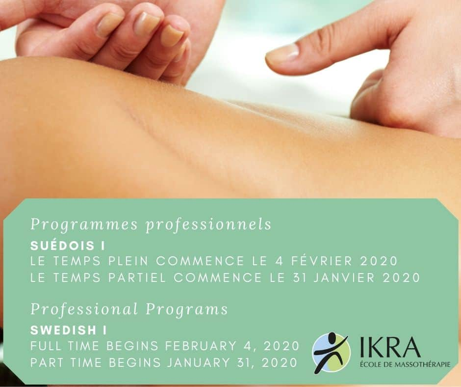 Swedish Massage Training Flier