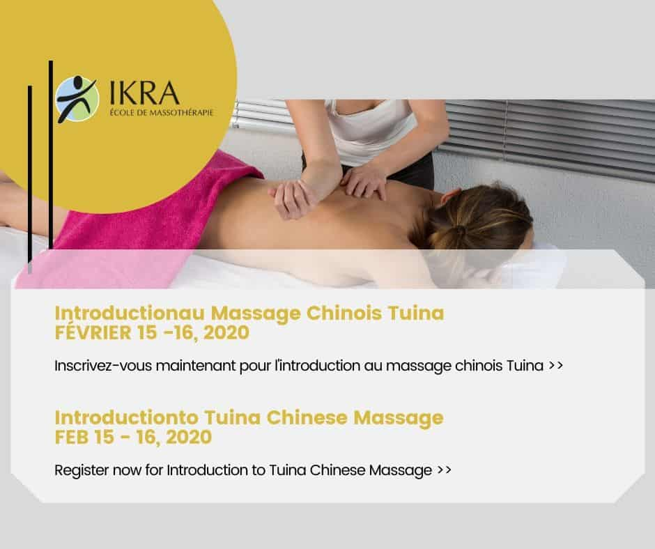 Intro Tuina Chinese Massage promotional Flier