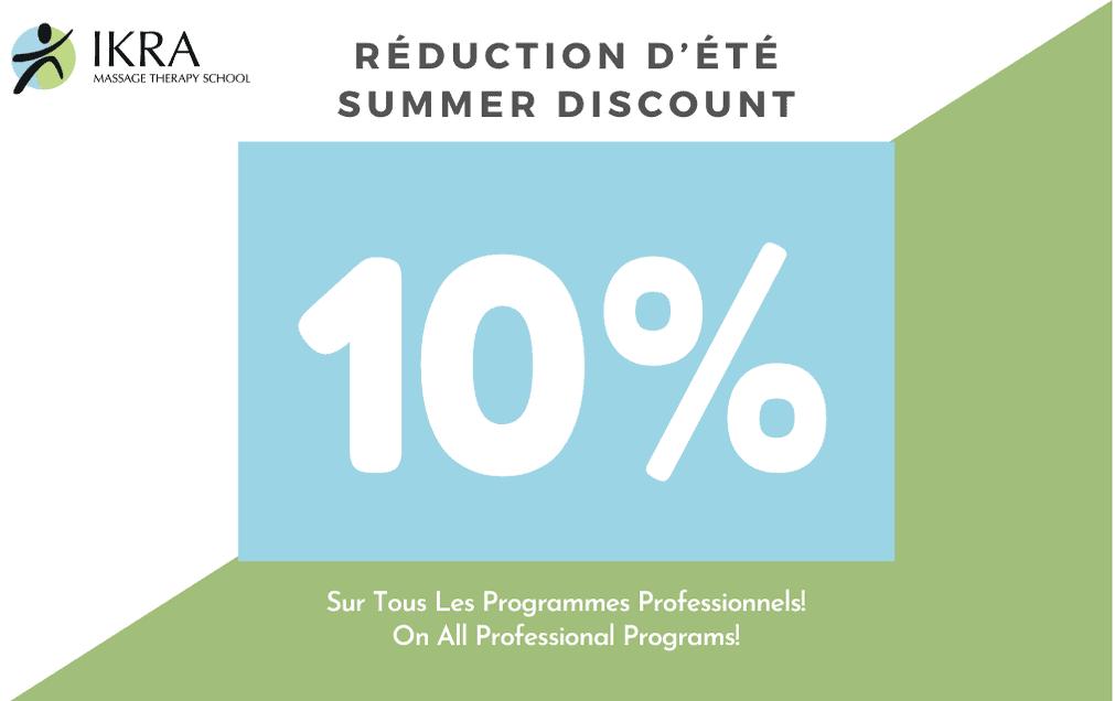 Réduction d'été: -10% Sur Tous Les Programmes Professionnels!