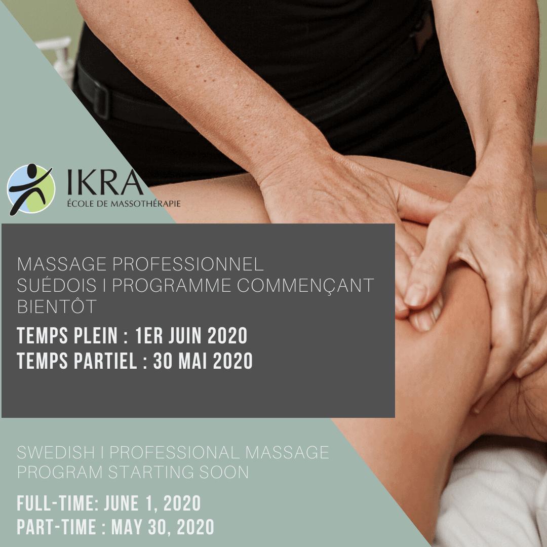 Programme de massage suédois I