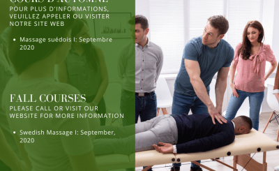 Notre cours de Massage suédois I