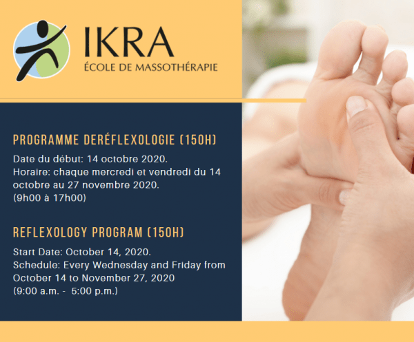 Programme de Réflexologie (150h)