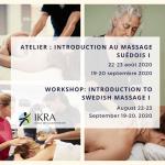 Rappel: Atelier de massage suédois - Programme de massage suédois