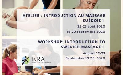 Reminder: Swedish Massage Workshop - Swedish Massage Program