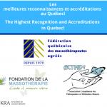 Les partenaires d'IKRA. FQM,ACTMD,FONDATION DE LA MASSOTHERAPIE