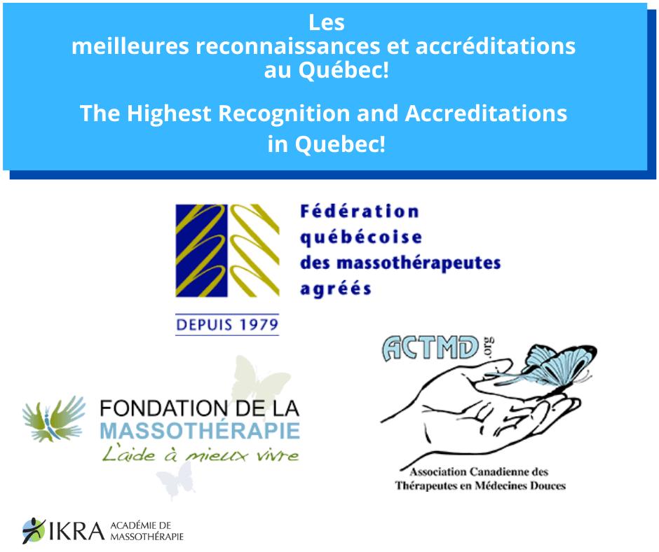 IKRA'S Partners- FQM, ACTMD,Fondation de la massothérapie