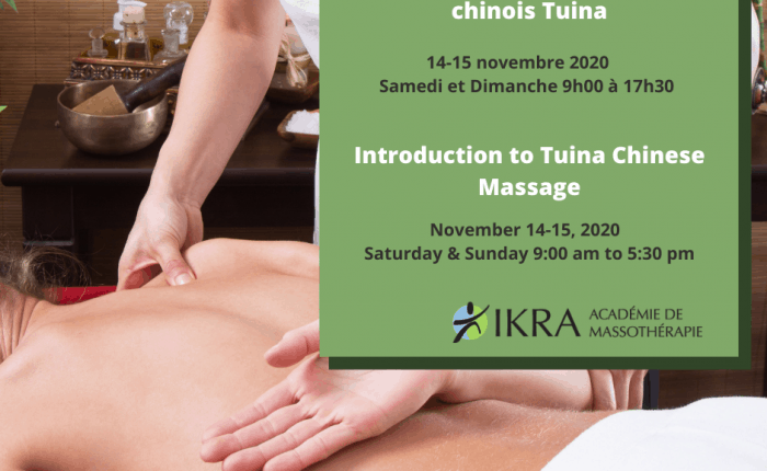 Massage therapist giving Tuina Chinese Massage