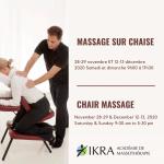 Homme donnant un massage sur chaise