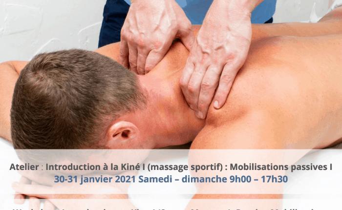Athlète reçoit un massage sportif